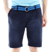 U.S. Polo Assn.® Belted Flat-Front Shorts