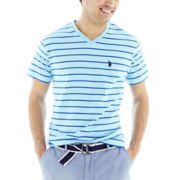 U.S. Polo Assn.® Striped V-Neck Tee