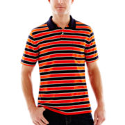 St. John's Bay® Bar-Striped Polo Shirt