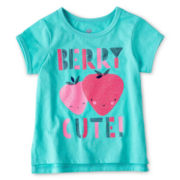 Okie Dokie® Ringer Tee - Girls 12m-6y