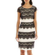 Sangria Lace Shutter Dress