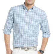IZOD® Long-Sleeve Plaid Button-Front Shirt