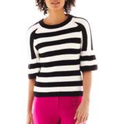 Worthington® Puff-Sleeve Striped Sweater