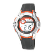 Armitron® Mens Black and Orange Chronograph Digital Sport Watch