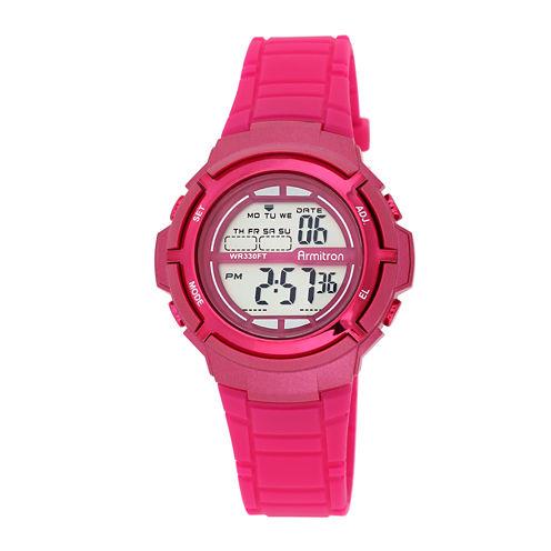 Armitron® Pro-Sport Womens Pink Digital Sport Watch  45/7045MAGJ