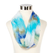 Blurred Stripe Loop Scarf