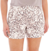 Ambrielle® Knit Boxer Sleep Shorts - Plus