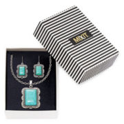 Mixit™ Aqua Stone Necklace and Earring Set