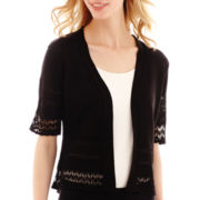 Studio 8 Fashion Corp Elbow-Sleeve Pointelle Shrug Sweater