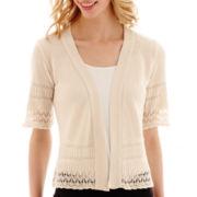 Studio 8 Fashion Corp Elbow-Sleeve Pointelle Shrug Sweater