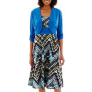 Perceptions 2-pc. Diamond Print Jacket Dress