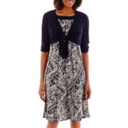 Perceptions Tribal Print Jacket Dress Set