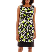 Ronni Nicole Sleeveless Banded Floral Print Sheath Dress