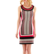 Studio 1® Sleeveless Ribbon-Neck Knit Dress