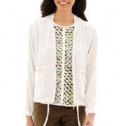 Liz Claiborne® Soft Bomber-Style Jacket - Tall