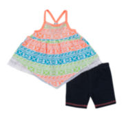 Little Lass Neon 2-pc. Shorts Set - Baby Girls 3m-24m
