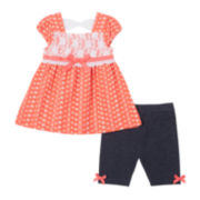 Little Lass Lace Top and Shorts Set - Baby Girls 3m-24m