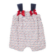 Little Lass Red, White and Blue Romper - Baby Girls 3m-24m