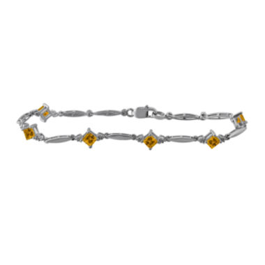 jcpenney.com | Genuine Citrine and Diamond-Accent Sterling Silver Bracelet