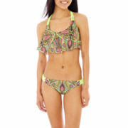 Arizona Print Macramé Flounce Swim Top or Hipster Bottoms - Juniors