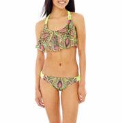 Arizona Print Macramé Flounce Swim Top or Hipster Bottoms - Juniors