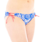 Arizona Paisley Print Side-Tie Hipster Swim Bottoms - Juniors