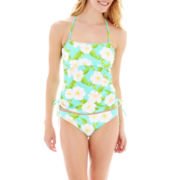 Arizona Tropical Print Bandeaukini Swim Top or Hipster Bottoms - Juniors
