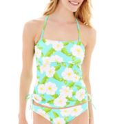 Arizona Tropical Print Bandeaukini Swim Top - Juniors