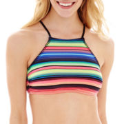 Arizona Striped High-Neck Swim Top - Juniors