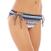 Arizona Tribal Print Adjustable Hipster Swim Bottoms - Juniors