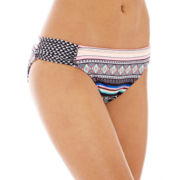 Arizona Tribal Print Side-Scrunch Hipster Swim Bottoms - Juniors