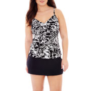 Jamaica Bay® Ruffled Tankini Swim Top or Skirted Bottoms - Plus