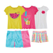 Okie Dokie® Tees or Shorts – Toddler Girls 2t-5t