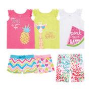 Okie Dokie® Tank Tops or Shorts – Toddler Girls 2t-5t
