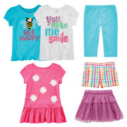 Okie Dokie® Tees, Leggings, Shorts or Skirt – Toddler Girls 2t-5t