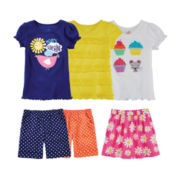 Okie Dokie® Tees, Shorts or Skort – Toddler Girls 2t-5t