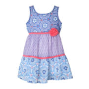 Pinky Mixed-Print Dress - Toddler Girls 2t-4t