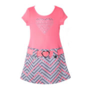 Pinky Heart-Print Dress – Preschool Girls 4-6x