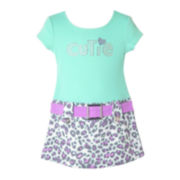 Pinky Animal-Print Dress – Preschool Girls 4-6x