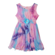 by&by Girl Tie-Dye Ballerina Dress – Preschool Girls 4-6x