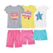 Okie Dokie® Tees or Shorts – Preschool Girls 4-6x