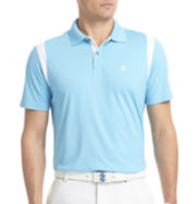 IZOD® Golf Short-Sleeve Mesh-Shoulder Polo