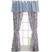 Izod® Winward Paisley 2-Pack Tab-Top Curtain Panels