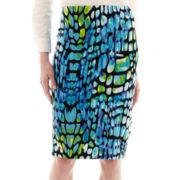 Worthington® Print Scuba Knit Pencil Skirt - Tall