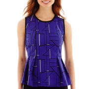 Worthington® Pleated Peplum Top