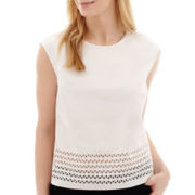 Worthington® Sleeveless Lasercut Top