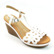 St. John's Bay® Cathy T-Strap Wedge Sandals