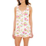 PJ Couture® Print Tank Top and Shorts Pajama Set