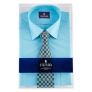 Stafford® Easy-Care Dress Shirt & Tie Set–Big & Tall