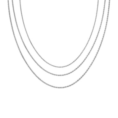 "jcpenney.com | Sterling Silver 16-30"" Light Rope Chains"